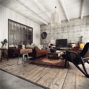 美式风格二居客厅装修效果图