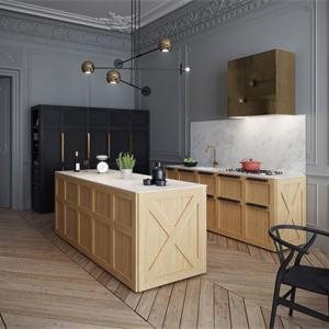 現代美式風格廚房裝修效果圖