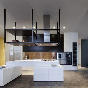 現代簡約別墅廚房裝修設計圖