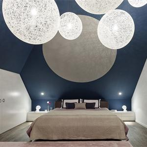 136㎡现代风卧室装修布置图