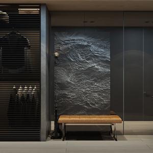 中式風格玄關大門裝修設計效果圖