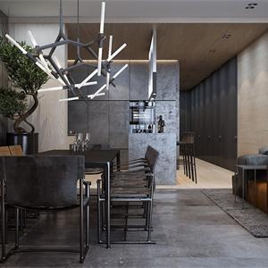 大戶型現代簡約餐廳裝修效果圖