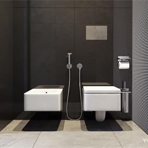 灰色极简风格卫生间装修效果图