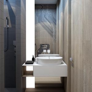现代简约两居卫生间装修效果图