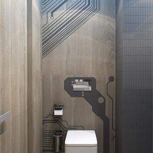 现代简约风别墅卫生间装修效果图