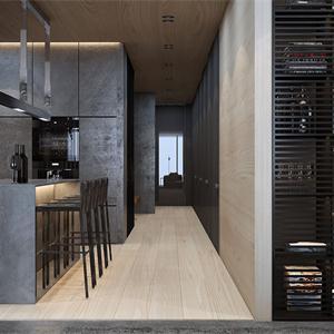 現代極簡風格四居室餐廳裝修效果圖