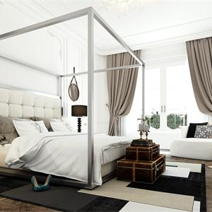 125平米北歐風格臥室裝修效果圖