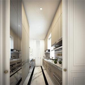 100平北歐風格廚房裝修效果圖
