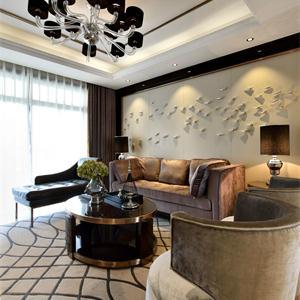 100平现代简约客厅装修效果图
