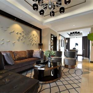 130平新现代客厅装修效果图