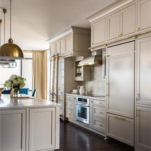 奢華歐式風格廚房裝修效果圖