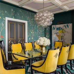 現代簡約三居餐廳裝修設計圖