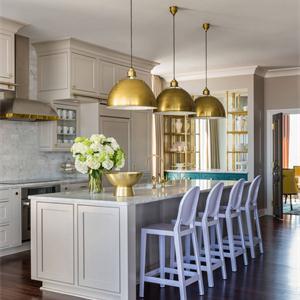 法式新古典别墅厨房装修效果图
