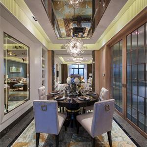 新古典風格四居室餐廳裝修設計圖