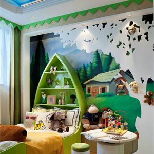 混搭风格三居室儿童房装修效果图