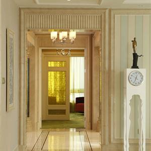 万科胥江城市花园三居室现代简约客厅装修设计图