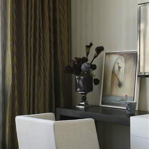 绿地中央广场轻美式混搭风格卧室装修效果图