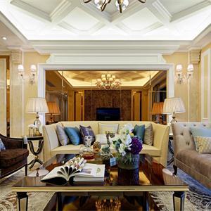 绿地海珀宫爵奢华欧式风格客厅装修效果图