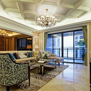 苏州恒大悦珑湾奢华欧式风格客厅装修效果图