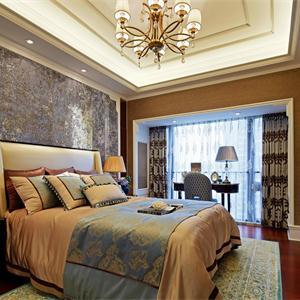 恒大珺睿庭欧式风格三居卧室装修效果图