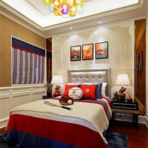 仁恒公园世纪新古典欧式风格卧室装修效果图