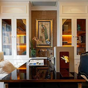 欧式风格三居书房装修效果图