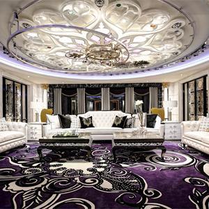 奢華歐式風格客廳裝修效果圖