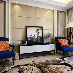 140平新古典風格客廳裝修效果圖