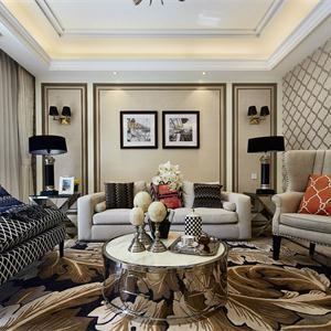 奢華古典歐式風格客廳裝修效果圖
