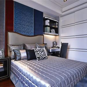 建屋吳郡半島現代簡約三居臥室裝修效果圖