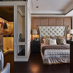 姑蘇裕沁庭三居室混搭風格臥室裝修效果圖