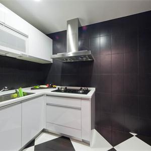 現代風格三居室廚房裝修效果圖