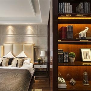 豐谷景園新古典風格樣板間臥室裝修效果圖