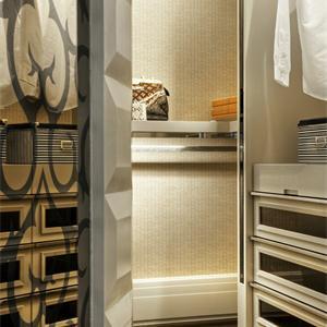 140平新古典风格客厅隔断装修效果图