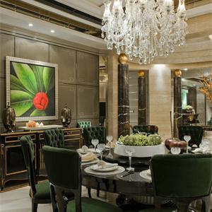 现代欧式四居室餐厅装修效果图