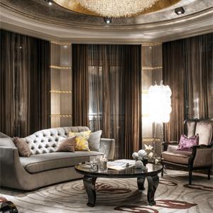 新古典美式风格别墅装修客厅一角