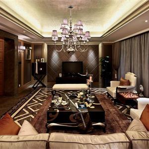 新古典风格二居客厅装修效果图