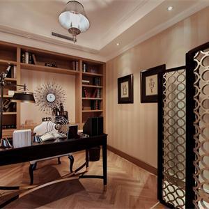 新古典風格二居書房裝修效果圖