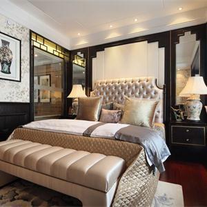 新古典風格樣板間臥室裝修效果圖