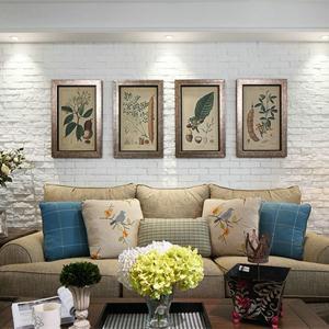 三居室美式乡村风格客厅装修效果图