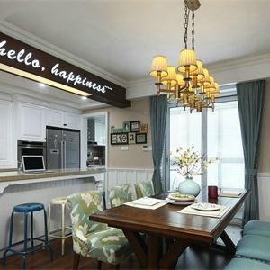 美式風格廚房櫥柜設計裝修圖