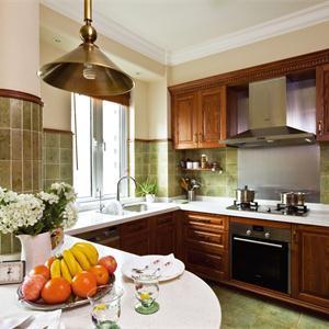 大戶型美式風格開放式廚房裝修效果圖