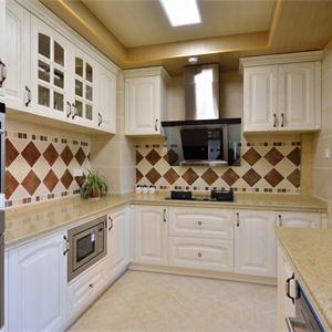 大戶型美式風格廚房裝修效果圖