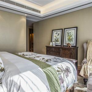 90平美式风格卧室装修效果图