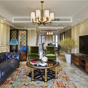 大戶型美式風格客廳裝修效果圖