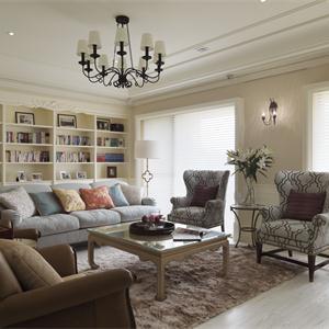 170㎡美式风格客厅装修效果图
