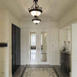 125平美欧式田园风格客厅装修效果图