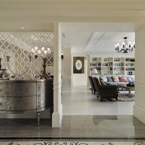 米色调美式风格客厅装修效果图