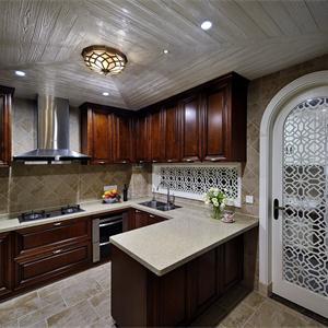 大戶型美式風廚房裝修效果圖