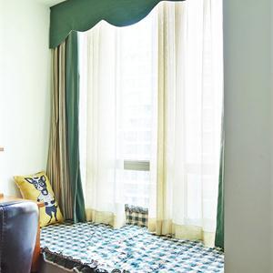 135㎡美式风格卧室飘窗装修效果图